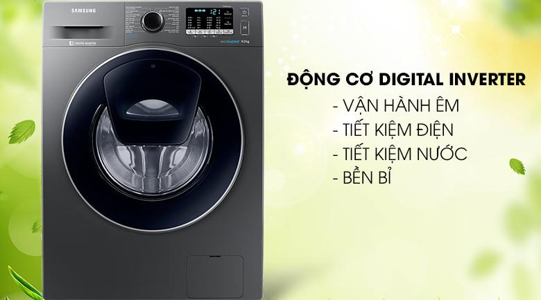 Máy giặt Inverter tiết kiệm điện năng - Máy giặt Samsung Addwash Inverter 9 kg WW90K54E0UX/SV