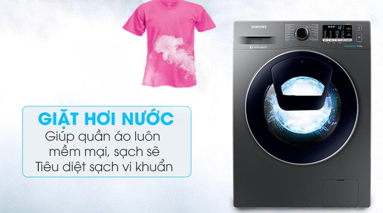 Giặt hơi nước -  Máy giặt Samsung Addwash Inverter 9 kg WW90K54E0UX/SV