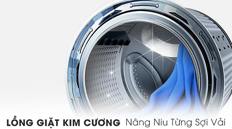 Lồng giặt kim cương - Máy giặt Samsung Addwash Inverter 9 kg WW90K54E0UX/SV
