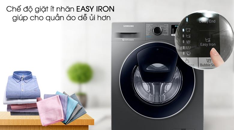 Chế độ Easy iron - Máy giặt Samsung Addwash Inverter 9 kg WW90K54E0UX/SV