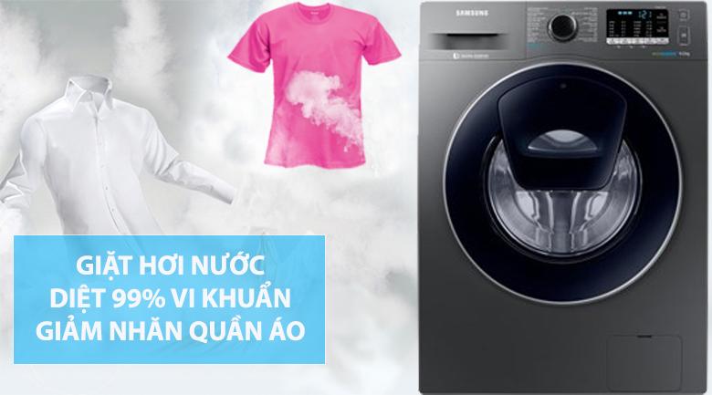 Công nghệ giặt hơi nước - Máy giặt Samsung Addwash Inverter 9 kg WW90K54E0UX/SV