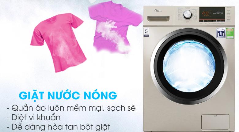 Chế độ giặt nước nóng - Máy giặt Midea 8 kg MFC80-1401