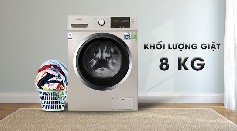 Khối lượng giặt - Máy giặt Midea 8 kg MFC80-1401
