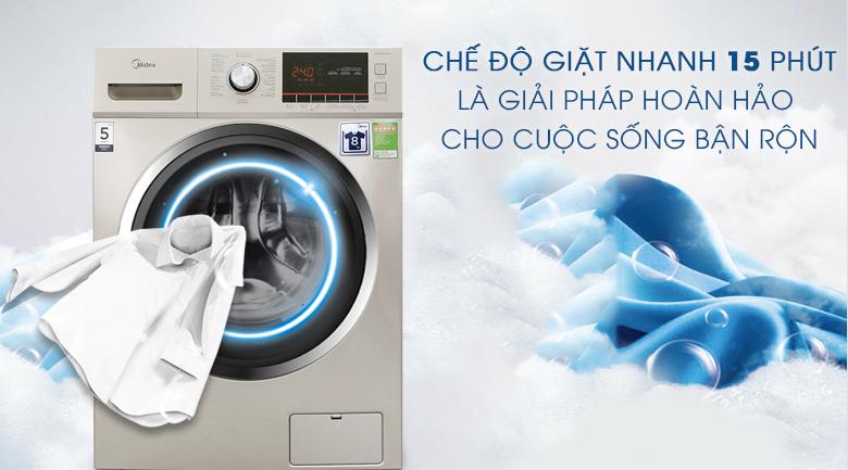 Chế độ giặt nhanh 15 phút - Máy giặt Midea 8 kg MFC80-1401