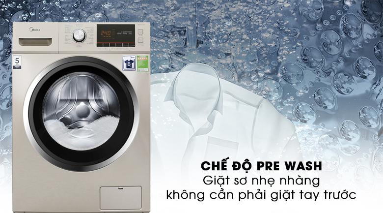 Chế độ Pre Wash - Máy giặt Midea 8 kg MFC80-1401