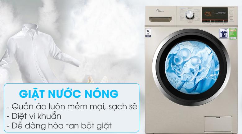Giặt nước nóng - Máy giặt Midea 9 kg MFC90-1401