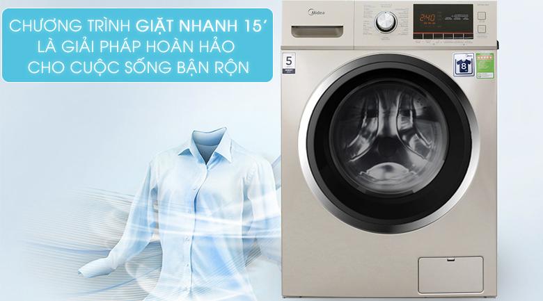 Chương trình giặt nhanh 15 phút - Máy giặt Midea 9 kg MFC90-1401