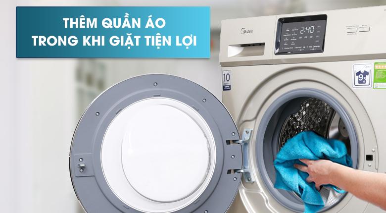 Tính năng thêm quần áo khi giặt - Máy giặt Midea Inverter 9.5 kg MFC95-1401IN