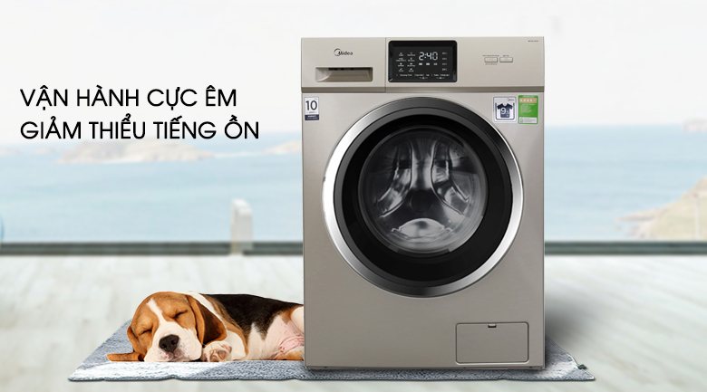 Vận hành cực êm - Máy giặt Midea Inverter 9.5 kg MFC95-1401IN