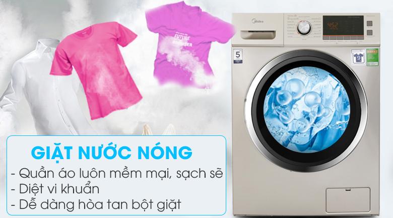 Chế độ giặt nước nóng - Máy giặt sấy Midea 9 kg MFC90-D1401