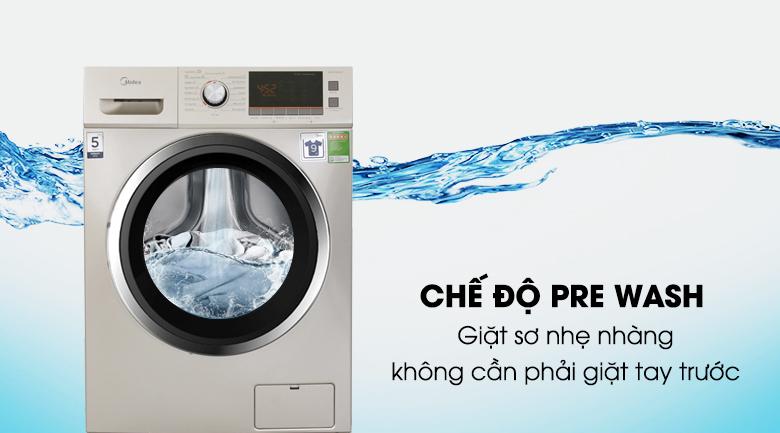 Chế độ Pre Wash - Máy giặt sấy Midea 9 kg MFC90-D1401