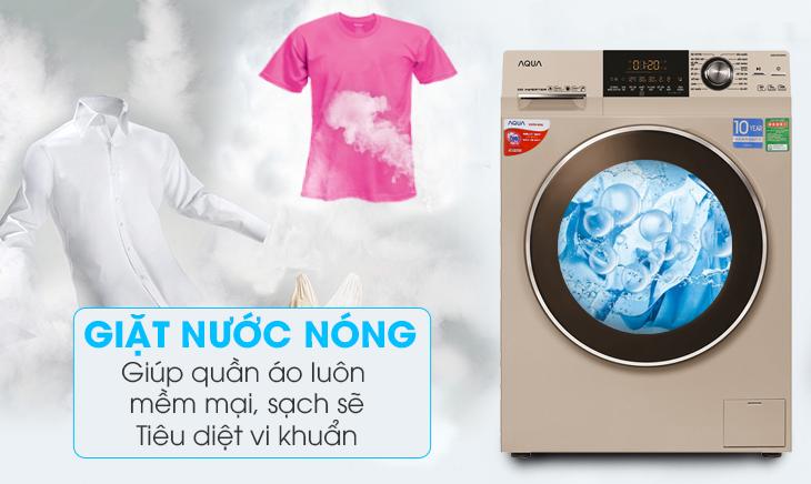 Giặt nước nóng - Máy giặt Aqua Inverter 8.5 kg AQD-DD850A (N2)