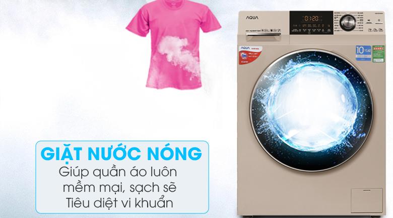 Giặt nước nóng - Máy giặt Aqua Inverter 10 kg AQD-DD1000A (N2)