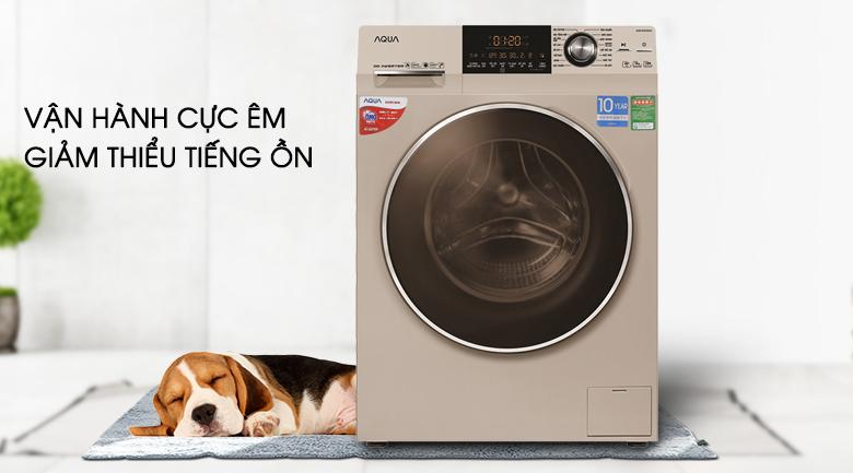 Vận hành cực êm - Máy giặt Aqua Inverter 10 kg AQD-DD1000A (N2)