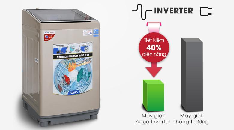 Công nghệ Inverter - Máy giặt Aqua Inverter 10,5 Kg AQW-DW105AT N