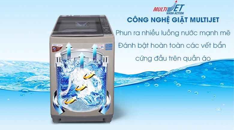 MultiJet - Máy giặt Aqua Inverter 10,5 Kg AQW-DW105AT N