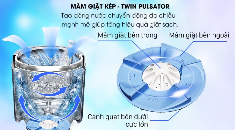 Twin Pulsator - Máy giặt Aqua Inverter 10,5 Kg AQW-DW105AT N
