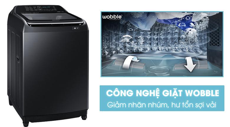 Công nghệ giặt Wobble - Máy giặt Samsung Inverter 14 kg WA14N6780CV/SV