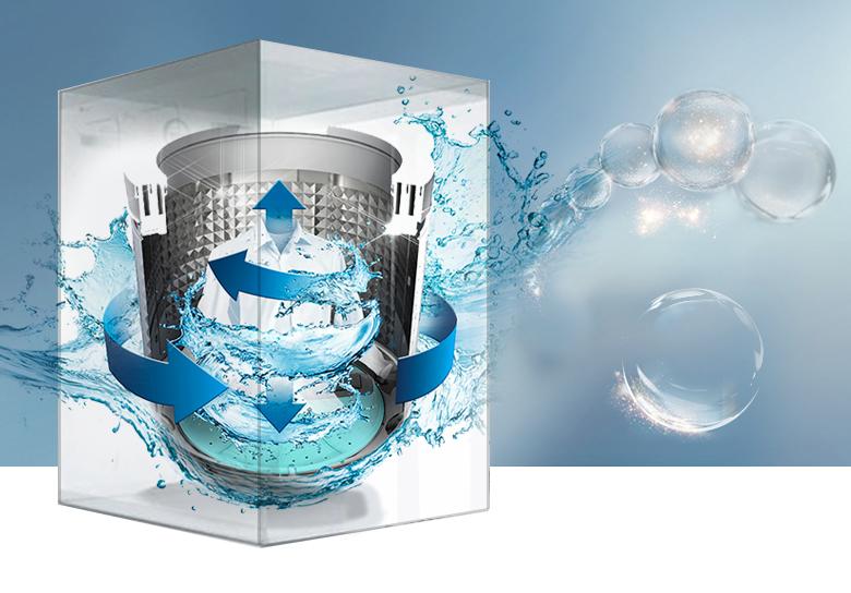 Động cơ truyền động trực tiếp êm, bền - Máy giặt Samsung Inverter 14 kg WA14N6780CV/SV