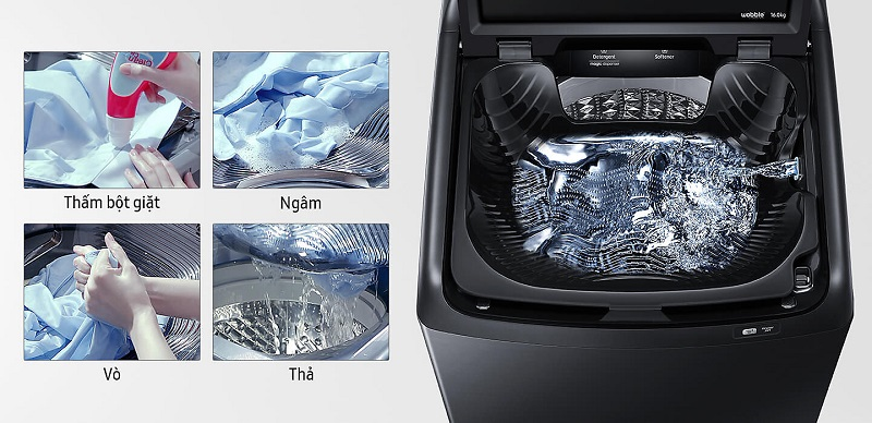 Khay giặt Activ Dualwash - Máy giặt Samsung Inverter 16 kg WA16N6780CV/SV