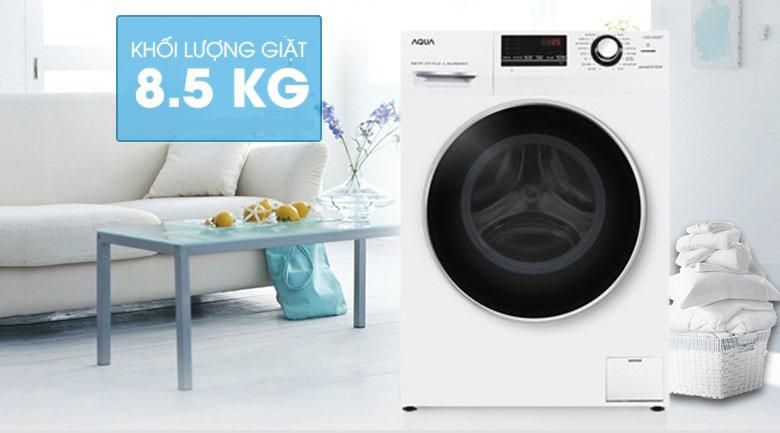 Khối lượng giặt 8.5 kg - Máy giặt Aqua Inverter 8.5 kg AQD-A852ZT (W)