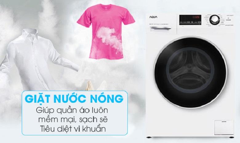 Giặt nước nóng - Máy giặt Aqua Inverter 8.5 kg AQD-A852ZT (W)