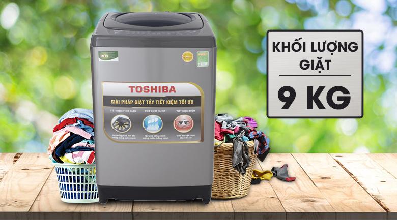 Khối lượng giặt - Máy giặt Toshiba 9 Kg AW-H1000GV SB