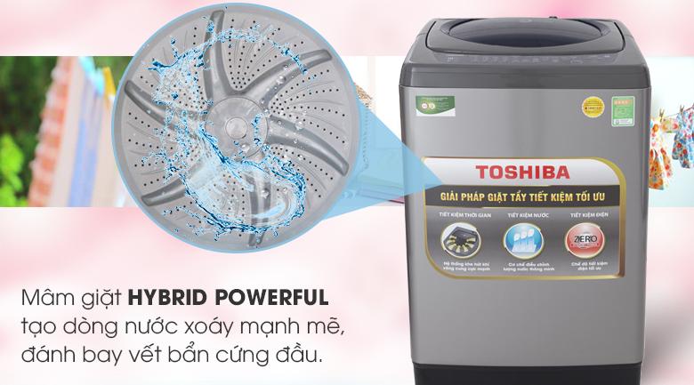 Mâm giặt Hybrid Powerful - Máy giặt Toshiba 9 Kg AW-H1000GV SB