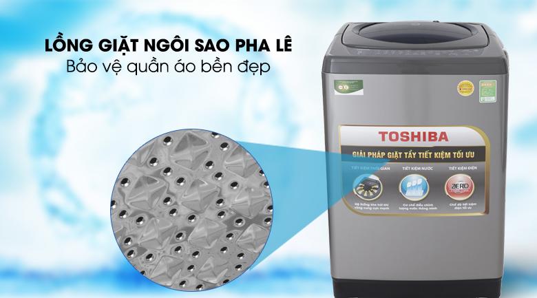 Lồng giặt ngôi sao pha lê - Máy giặt Toshiba 9 Kg AW-H1000GV SB