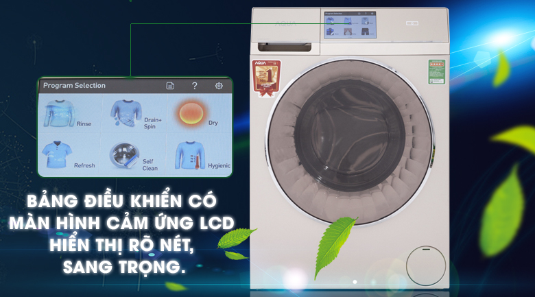 Máy giặt sấy Aqua Inverter 10Kg AQD-D1000HT N