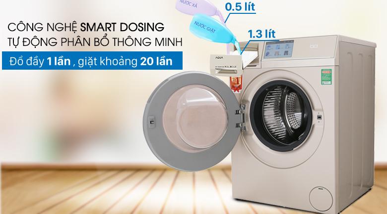 Công nghệ Smart Dosing - Máy giặt sấy Aqua Inverter 10Kg AQD-D1000HT N