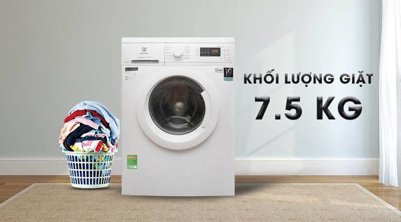 Khối lượng giặt 7.5 kg - Máy giặt Electrolux Inverter 7.5 Kg EWF7525DGWA