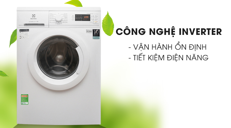 Công nghệ Inverter - Máy giặt Electrolux Inverter 7.5 Kg EWF7525DGWA