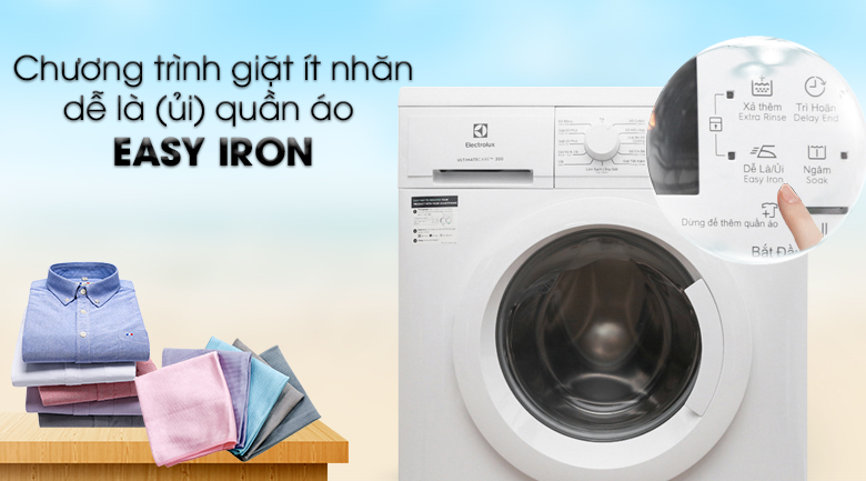 Chương trình giặt Easy Iron - Máy giặt Electrolux Inverter 7.5 Kg EWF7525DGWA