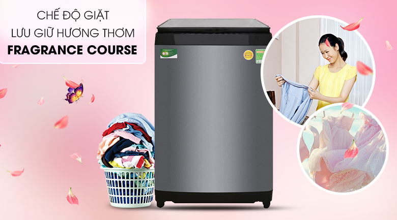 Tính năng lưu giữ hương thơm Fragrance Course - Máy giặt Toshiba Inverter 14 kg AW-DUG1500WV KK