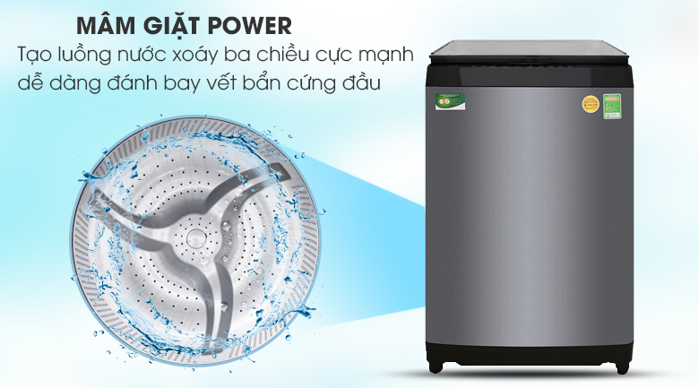 Mâm giặt Mega Power Wash - Máy giặt Toshiba Inverter 14 kg AW-DUG1500WV KK
