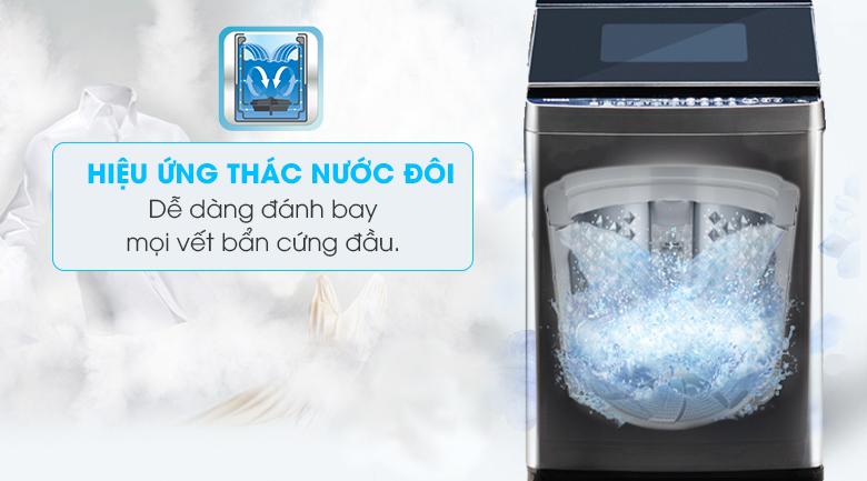Hiệu ứng thác nước đôi - Máy giặt Toshiba Inverter 14 kg AW-DUG1500WV KK