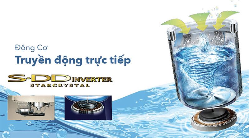Động cơ truyền động trực tiếp - Máy giặt Toshiba Inverter 15 kg AW-DUG1600WV SK