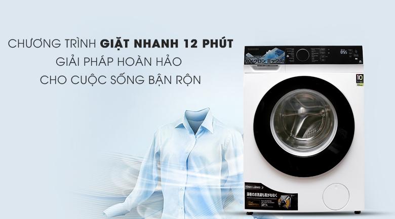 Giặt nhanh 12 phút - Máy giặt Toshiba Inverter 9.5 kg TW-BH105M4V