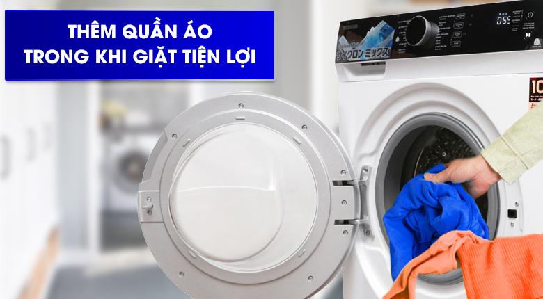 Thêm quần áo trong khi giặt - Máy giặt Toshiba Inverter 9.5 kg TW-BH105M4V