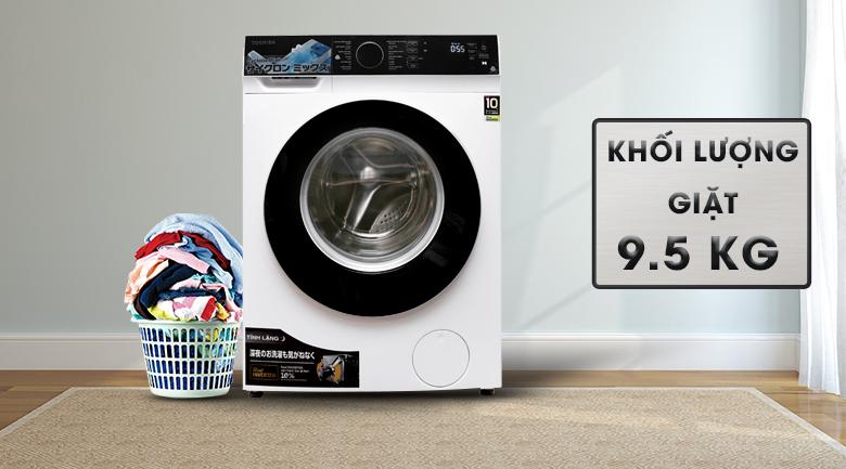 Khối lượng giặt 9.5 kg - Máy giặt Toshiba Inverter 9.5 kg TW-BH105M4V