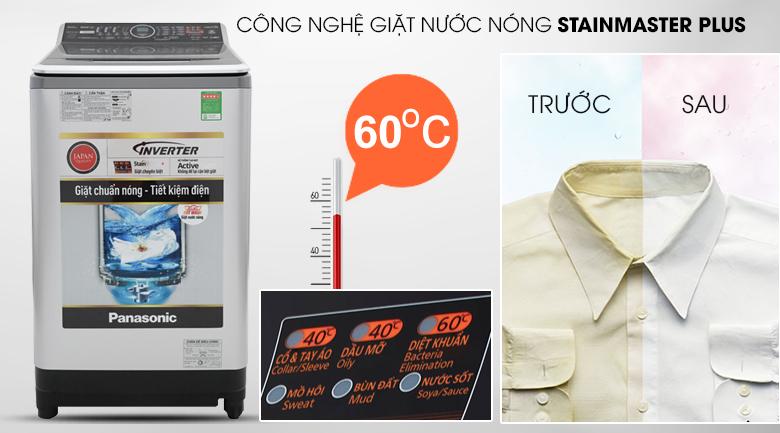 Công nghệ giặt nước nóng Stain Master - Máy giặt 10 kg Panasonic NA-FS10V7LRV