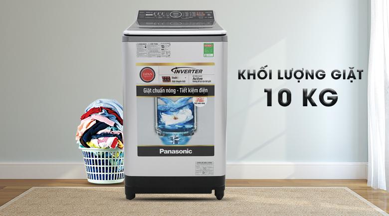 Khối lượng giặt 10 kg - Máy giặt Panasonic Inverter 10 Kg NA-FS10V7LRV