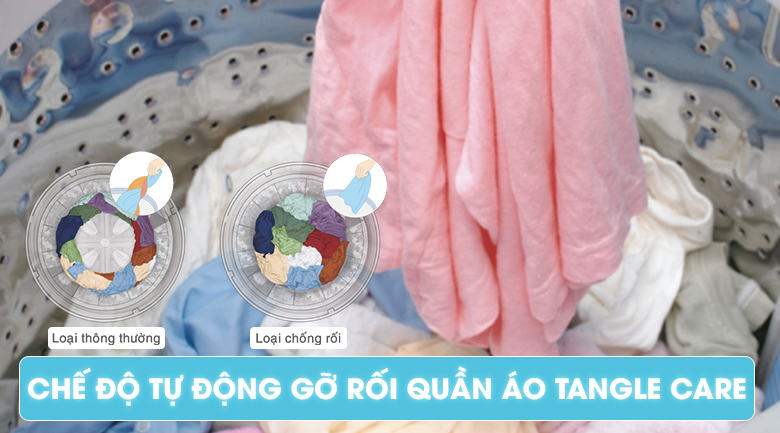 Chế độ Tangle Care - Máy giặt 10 kg Panasonic NA-FS10V7LRV