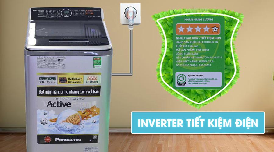 Công nghệ Inverter - Máy giặt 10 kg Panasonic NA-FS10V7LRV