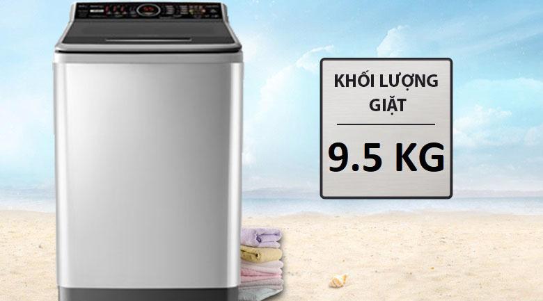Khối lượng 9.5 kg - Máy giặt Panasonic Inverter 9.5 kg NA-FS95V7LMX