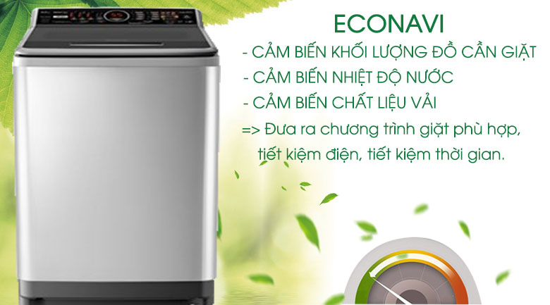 Cảm biến Econavi - Máy giặt Panasonic Inverter 9.5 kg NA-FS95V7LMX