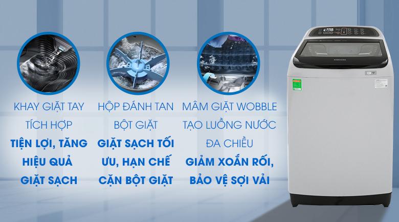 Máy giặt Samsung Inverter 10.5 kg WA10J5750SG/SV