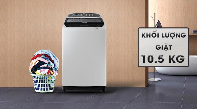 Khối lượng giặt 10.5 Kg - Máy giặt Samsung Inverter 10.5 kg WA10J5750SG/SV