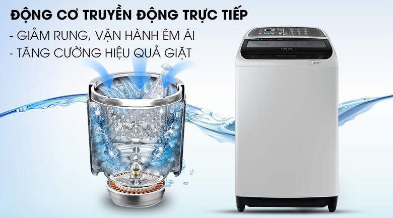 Động cơ truyền động trực tiếp - Máy giặt Samsung Inverter 10.5 kg WA10J5750SG/SV